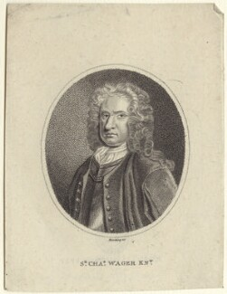 Sir Charles Wager, by and published by Edward Harding, after  Thomas Gibson - NPG D27534