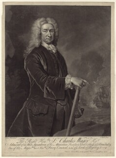 Sir Charles Wager, by and published by John Faber Jr, after  Isaac Whood - NPG D27535