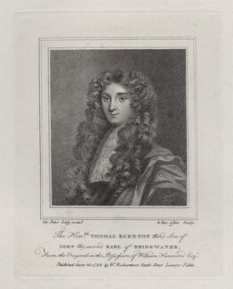 Thomas Egerton of Tatton, by (Benedictus) Antonio van Assen, published by  William Richardson, after  Sir Peter Lely - NPG D27538
