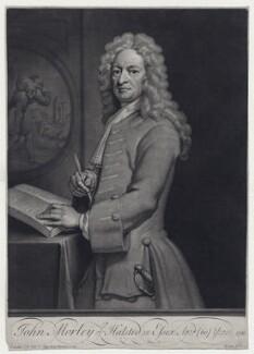 John Morley, by John Simon, after  Sir Godfrey Kneller, Bt - NPG D27550