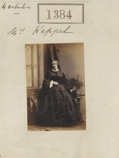 Frances Georgiana Sophia Keppel (née Marsham), by Camille Silvy, 4 October 1860 - NPG Ax50785 - © National Portrait Gallery, London