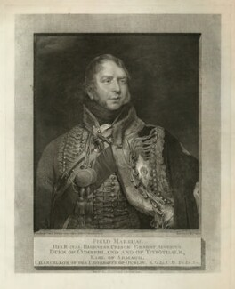 Ernest Augustus, Duke of Cumberland and King of Hanover, by and published by William Skelton, after  William Owen - NPG D33316