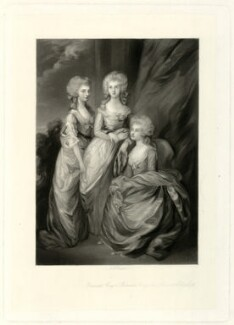 The three eldest daughters of King George III, by Arthur N. Sanders, after  Thomas Gainsborough - NPG D33317