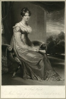 Princess Mary, Duchess of Gloucester, by William Say, after  Sir William Beechey - NPG D33320