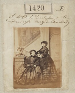 Princess Augusta Wilhelmina Louisa, Duchess of Cambridge; Princess Mary Adelaide, Duchess of Teck, by Camille Silvy - NPG Ax50821