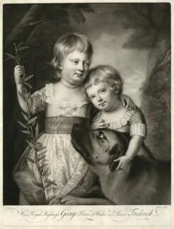 King George IV; Frederick, Duke of York and Albany, by James Watson, after  Katharine Read, circa 1765-1770 - NPG D33327 - © National Portrait Gallery, London