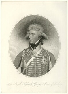 King George IV, by Thomas Cheesman, after  Sir William Beechey - NPG D33328