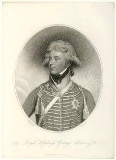 King George IV, by Thomas Cheesman, after  Sir William Beechey - NPG D33328