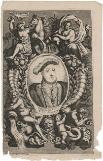 King Henry VIII, probably by Gaspar Bouttats, after  Hans Holbein the Younger - NPG D33366