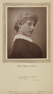 Marie Linden (Agnes Mary Lavinia Clinton), by St James's Photographic Co, published by  David Bogue - NPG Ax9275