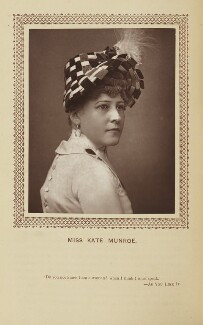 Katherine ('Kate') Munroe (Mrs Miles) as the Duchess of Epsom Downs in 'The Merry Duchess', by St James's Photographic Co, published by  David Bogue - NPG Ax9279