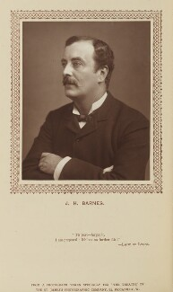 J.H. Barnes, by St James's Photographic Co, published by  David Bogue - NPG Ax9284
