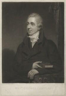 George Clayton, by George Clint, after  Thomas Stewardson - NPG D33387