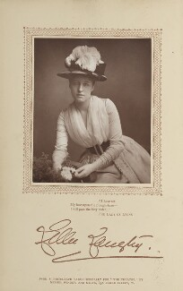 Lillie Langtry, by Window & Grove, published by  David Bogue - NPG Ax29196