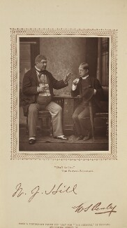 William J. Hill (William Hill Jones) and William Sydney Penley in 'The Private Secretary', by Herbert Rose Barraud, published by  David Bogue - NPG Ax29199