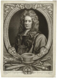 Sir Robert Clayton, by John Smith, after  John Riley, 1707 - NPG D33395 - © National Portrait Gallery, London