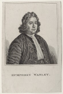Humphrey Wanley, by Robert Grave, after  Thomas Hill - NPG D27602