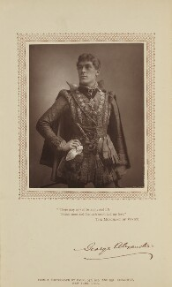 Sir George Alexander (George Samson) as Bassanio in 'The Merchant of Venice', by Benjamin Joseph Falk, published by  David Bogue, published 1 April 1885 - NPG Ax29203 - © National Portrait Gallery, London