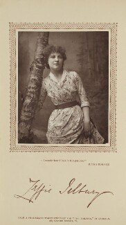 Zeffie Tilbury (Mrs L.D. Woodthorpe) in 'Ruth's Romance', by Herbert Rose Barraud, published by  David Bogue - NPG Ax29205