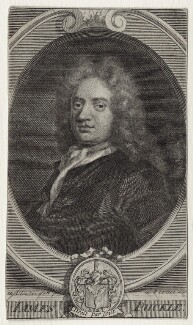 James Puckle, by George Vertue, after  John Closterman - NPG D27609