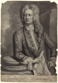 James Gibbs, by Peter Pelham, after  Hans Hysing, 1720s-1740s - NPG D27615 - © National Portrait Gallery, London