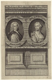 Johann Christoph Pepusch and Anastasia Mordaunt (née Robinson), Countess of Peterborough, after Thomas Hudson - NPG D27618