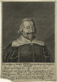 John Pym, by George Glover, published by  Stephen Bowtell, after  Edward Bower - NPG D33402