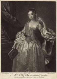 Anne Oldfield, by Edward Fisher, after  Jonathan Richardson - NPG D27619