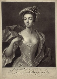 Priscilla Cooper, by Peter Pelham, after  Michael Dahl - NPG D27637