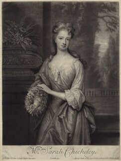 Sarah Plowden (née Chicheley), by and published by John Smith, after  Sir Godfrey Kneller, Bt, 1701 - NPG D27639 - © National Portrait Gallery, London