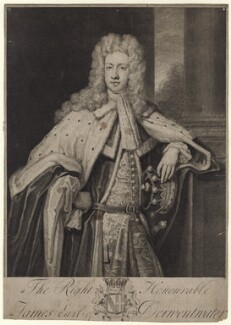 James Radcliffe (Radclyffe), 3rd Earl of Derwentwater, by and published by George Vertue, after  Sir Godfrey Kneller, Bt - NPG D27641