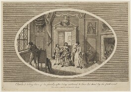 'Charles I taking leave of his family after being sentenced to loose his head by the Parliament', published by William and James Stratford, after  Unknown artist - NPG D33427
