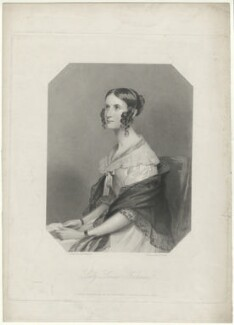 Louisa Grace Fortescue (née Butler), Lady Clermont, by Edward Francis Finden, printed by  McQueen (Macqueen), published by  T.G. March, after  Andrew Robertson - NPG D33435
