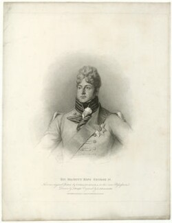 King George IV, by Luigi Schiavonetti, published by  T. Cadell & W. Davies, after  Thomas Phillips - NPG D33335