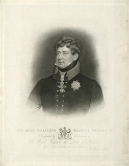 King George IV, by James Thomson (Thompson), published by  William Sams, after  Abraham Wivell - NPG D33339