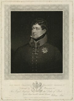 King George IV, by Thomas Goff Lupton, published by  William Sams, after  Abraham Wivell - NPG D33341