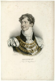 King George IV, by François Séraphin Delpech, after  Zéphirin Félix Jean Marius Belliard, after  Sir Thomas Lawrence - NPG D33344