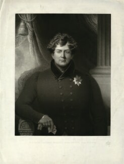 King George IV, by John Charles Bromley, published by  Mary Parkes, published by and after  Robert Bowyer - NPG D33346