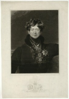 King George IV, by Charles Turner, published by  Hurst, Robinson & Co, after  Sir Thomas Lawrence - NPG D33348