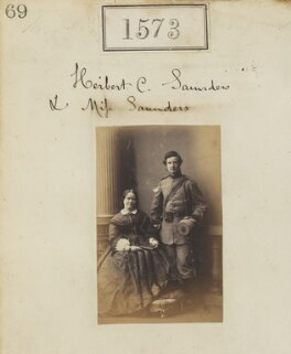 Eliza Mary Saunders; Herbert Clifford Saunders, by Camille Silvy - NPG Ax50967