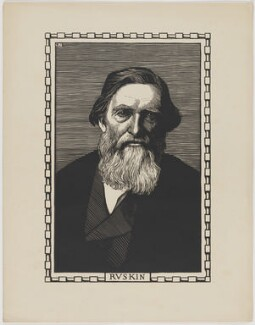 John Ruskin, by Robert Bryden, after  Elliott & Fry - NPG D33441