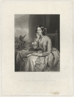 Catherine Lucy Wilhelmina Powlett (née Stanhope), Duchess of Cleveland, when Lady Dalmeny, by Samuel William Reynolds Jr, after  Sir Francis Grant - NPG D33444