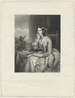 Catherine Lucy Wilhelmina Powlett (née Stanhope), Duchess of Cleveland, when Lady Dalmeny, by Samuel William Reynolds Jr, after  Sir Francis Grant - NPG D33445