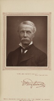 William Moy Thomas, by Herbert Rose Barraud, published by  Carson & Comerford - NPG Ax29218