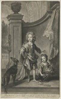 Richard Boyle, 3rd Earl of Burlington and 4th Earl of Cork; Lady Jane Boyle, by and published by John Smith, after  Sir Godfrey Kneller, Bt - NPG D33446