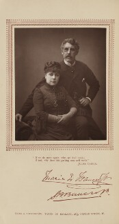 Marie Effie (née Wilton), Lady Bancroft; Sir Squire Bancroft (né Butterfield), by Herbert Rose Barraud, published by  Carson & Comerford - NPG Ax29219