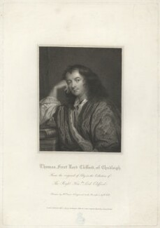 Thomas Clifford, 1st Baron Clifford of Chudleigh, by William Holl Sr, after  Harold Crease, after  Sir Peter Lely - NPG D33448