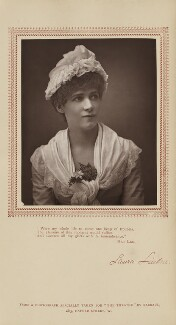 Laura Linden (Laura Sophia Morton-Herbert, née Clinton) as Olivia in 'The Vicar of Wideawakefield', by Herbert Rose Barraud, published by  Carson & Comerford - NPG Ax29225