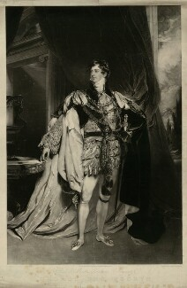 King George IV, by Thomas Hodgetts, published by  Martin Colnaghi, after  Sir Thomas Lawrence - NPG D33356