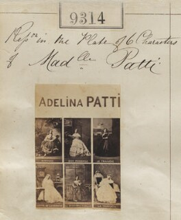 Adelina Patti in costume for six different roles, by Camille Silvy - NPG Ax59127